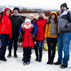 colleagues in bukovel winter trip 2019